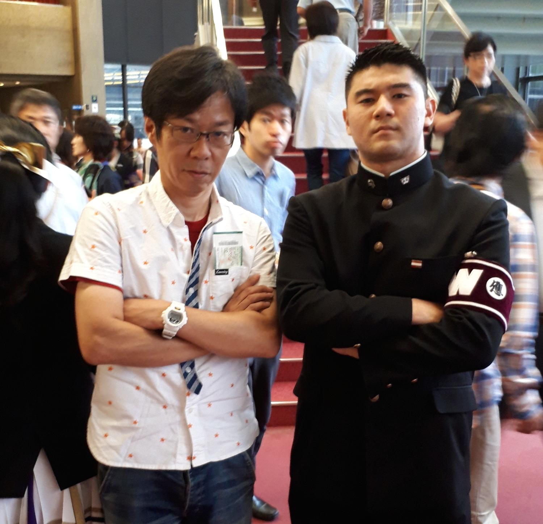 応援する気持ちは早稲田大学の応援部主将と。