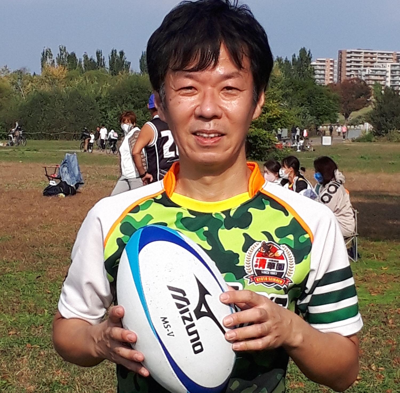 タッチラグビーのチームユニフォーム!枚方河川敷にて