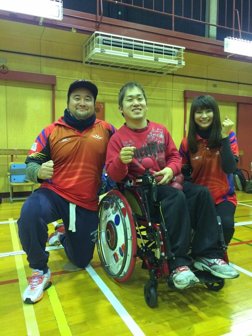 廣瀬選手とチームを紹介してくれたラグビー選手の西山さん